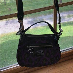 Purple and black coach purse!!